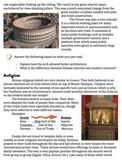 Ancient Rome Art/Culture Lesson papers