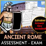 Ancient Rome Assessment Ancient Rome Exam | Google Slides