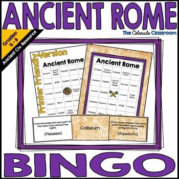 Ancient Rome Bingo