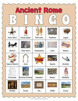 Ancient Rome Bingo Game