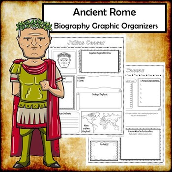 Ancient Rome Biography Research Graphic Organizers Bundle