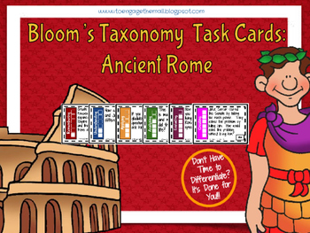 Ancient Rome Bloom's Taxonomy Task Cards