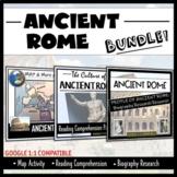 Ancient Rome Bundle: Map Activity, Readings, Bio's Researc