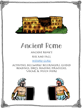 Ancient Rome Bundle with Reading Strategies, Foldables, and more