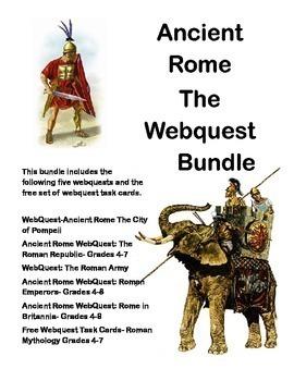 Ancient Rome Bundle-5 WebQuest Collection