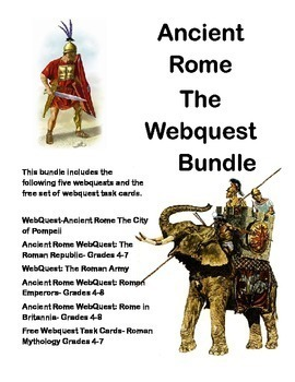 Ancient Rome -Bundled for Savings-5 WebQuest Collection