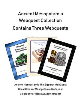 Ancient Mesopotamia Bundle-3 WebQuest Collection