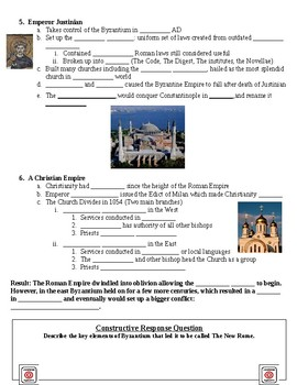 Ancient Rome Byzantium Guided Lecture Notes