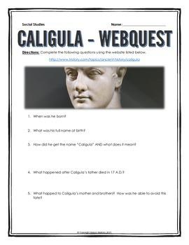 Ancient Rome - Caligula - Webquest with Key