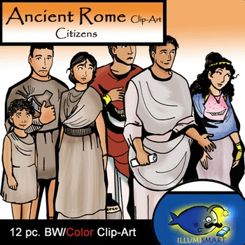 Ancient Rome Citizens (12 BW & Color)