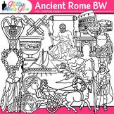 Ancient Rome Clip Art: Tiber River Civilization B&W {Glitter Meets Glue}