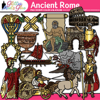 Ancient Rome Clip Art {Civilization and Culture on the Tib