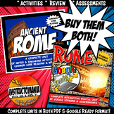 Ancient Rome Complete Unit and Google Ready Combined Activity Bundle
