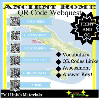 Ancient Rome - Cooperative QR Webquest  (Entire Unit!)