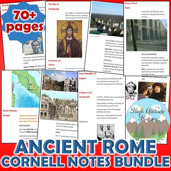 Ancient Rome Cornell Notes *Bundle* (World History)