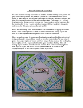 Ancient Rome: Create A Tabula Board Game With Students