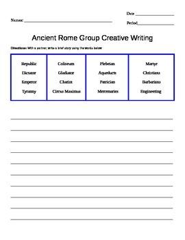Ancient Rome Creative Writing