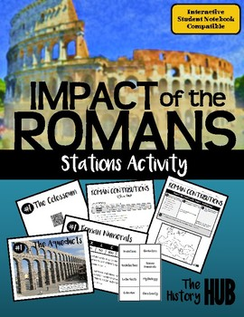 Ancient Rome - Cultural Contributions stations activity