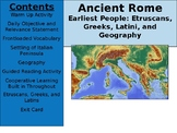 Ancient Rome Day 2 - Earliest People of the Italian Peninsula