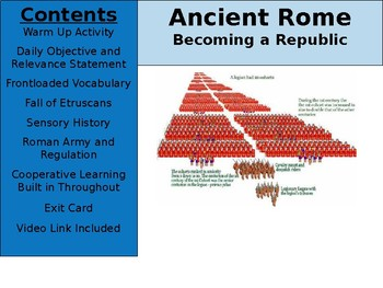 Ancient Rome Day 4 - Becoming a Republic