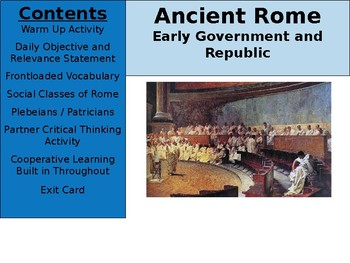 Ancient Rome Day 5 - Early Government and Republic