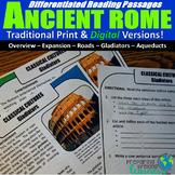 Ancient Rome Differentiated Reading Passages (Print & Digi