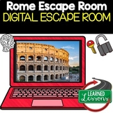 Ancient Rome Digital Escape Room, Breakout Room Test Prep, Distance Learning