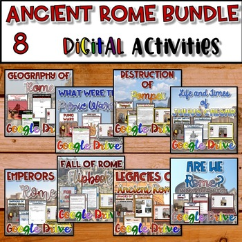Ancient Rome DIGITAL Interactive Notebook {Google Drive}