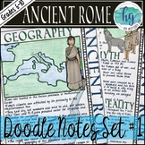 Ancient Rome Doodle Notes Set 1 for Geography and Founding