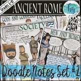 Ancient Rome Doodle Notes Set 2 for Roman Society and Religion