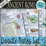 Ancient Rome Doodle Notes Set 5 for the Decline of the Roman Republic
