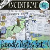 Ancient Rome Doodle Notes Set 6 for the Roman Empire and P