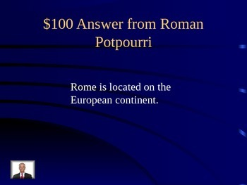 Ancient Rome Double Jeopardy