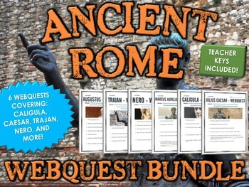 Ancient Rome - Emperors - Webquest Bundle (6 Webquests)