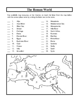 Ancient Rome The Empire Unit Handouts And Worksheets By