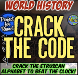 Ancient Rome Escape Room: Crack Etruscan Alphabet to Beat Clock! Tons of Fun!