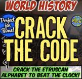 Ancient Rome Escape Room: Crack Etruscan Alphabet to Beat