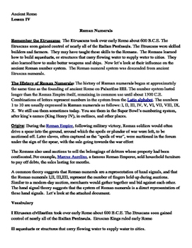 Ancient Rome Etruscans History of Roman Numerals Informati