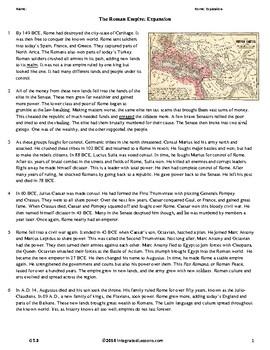 Ancient Rome: Expansion - Grade 5