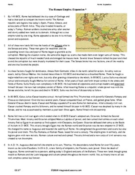 Ancient Rome: Expansion - Grade 8