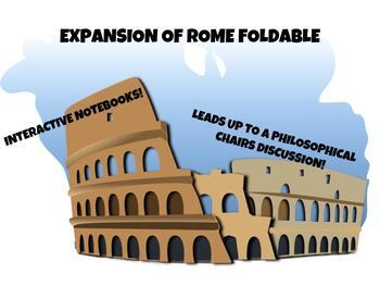 Ancient Rome: Expansion of Roman Empire Interactive Notebook Foldable