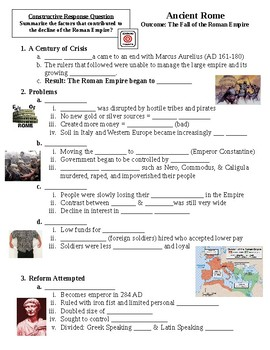 Ancient Rome Fall of Rome Guided Lecture Notes