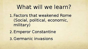 Ancient Rome Fall of Rome PowerPoint Lecture