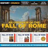 Ancient Rome - Fall of Rome - PowerPoint with Cloze Notes