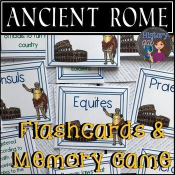 Ancient Rome Flashcards and Memory Game