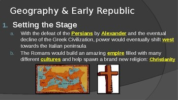 Ancient Rome Geography & Early Culture PowerPoint Lecture