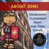 Ancient Rome: Geography Scavenger Hunt  and Task Cards - D