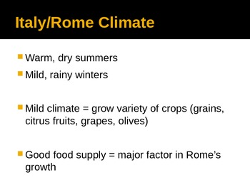 Ancient Rome Geography and Climate
