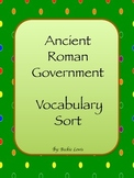 Ancient Rome Government Word Sort