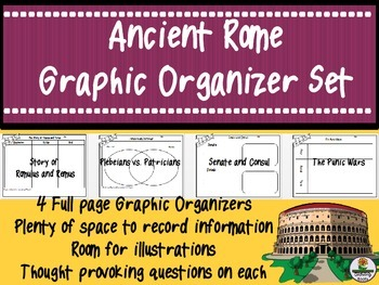 Ancient Rome Graphic Organizer Set